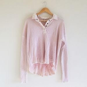 Free People we the free pink thermal top